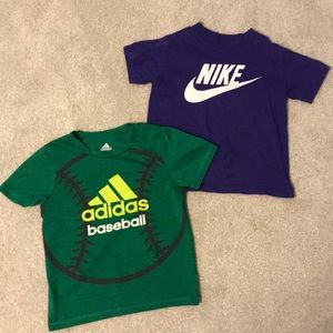 Adidas Nike Boys T Shirts. Lot of 2.  Size 5
